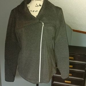 Lightweight sweatshirt material jacket
